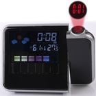 New Color LCD LED Light Projection Display Digital Alarm Majic Laser blacklight Clock Thermometer