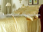 gold fancy silk quilt cover set