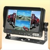 "7"" Digital Screen TFT LCD Color Quad Monitor stand for quad monitor camera system"