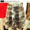 Printed flowers fashion ladies skirts