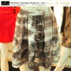 Printed flowers fashion ladies skirts
