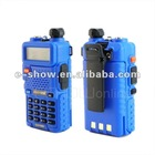 Blue cost-efficient Dual Band 5W 128CH UHF VHF walky talky Interphone