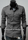 Exclusive style High quality Slim fit shirt for men with shoulder strap and S, M L XL XXL