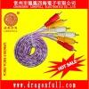 100% shielding tranparent rca av cable/wire/lead/cord 1.5m
