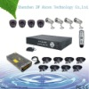 CIF resolution 8CH home security alarm system