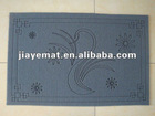 Anti-slip thin mat PVC laser engraved door mat