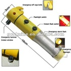 car Flashlight Emergency Hammer Multi-functional-Car-Safety emergency car escape tool
