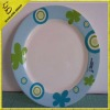 fashion melamine plate with printing round the edge