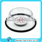 round acrylic pet dog feeder/stylish perspex pet food bowl
