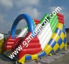 Bule arch double inflatable slide
