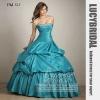 Nice Ball Gown Crystal Beaded Taffeta Prom Dress PM525