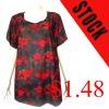 2012 stock round-neck woman t-shirt