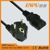 european style power cord right angle plug
