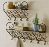 wrought iron flower stander in garden and home