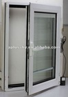 Manually Aluminum window with internal blind