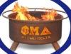 Phi Mu Delta wooden fireplace