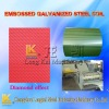 Embossed galvanized steel coil