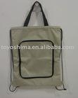 Foldable drawstring back bag
