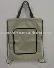 Foldable drawstring back bag