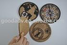 (2011 new development production)silk-screen cork coaster/cup mat