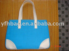 2012 china fashion canvas bag qomen handbag shoulder handbag