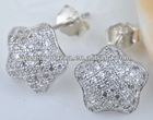 925 sterling silver jewelry,Micro pave setting jewelry CZ 925 Earrings,925 silver earrings A1113
