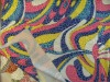 knitted fabric with transfer print fabric