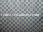 100% polyester checked printed velboa fabric