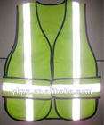 100%polyester safety reflective vest with mesh,reflective vest mesh
