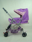 Stell frame Reversible handle wide seat baby pushchair stroller