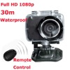 "5m Remote Control 30m Waterproof High Definition 1080p 150degree wide angle 1.5""screen Professional Helmet Sport Action Camera"