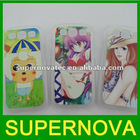 Customized mobile phone case for galaxy s3 --clear case with coated aluminum for heat transfer printing