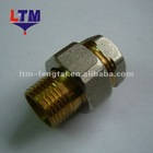 Brass Fitting-Straight radiator coupling-brass body with nickel plated