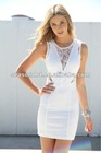 Ladies sheer lace casual open back dress