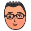 eco man-face sprial pocket notepad