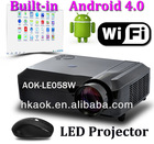 "Built-in Android 4.0 WIFI wireless network 2800 Lumens HD LED Projector ""Smart beam"" Support 3D 16:9 Wide Screen projector"