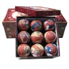Colorful paper foam christmas ball with nice package