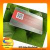 high quality factory transparent qr code business card