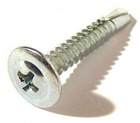 Modified truss head, Zinc plated, Self-drilling screw