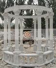 Outdoor garden stone gazebo
