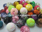 Multicolor 20mm charm high quality sequin ball beads, 2012 hot selling