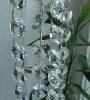 HX-G108 elegant crystal home decor beaded curtain