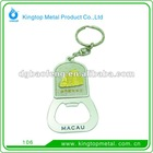 new design keychain metal souvenir bottle opener