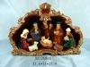 polyresin santa nativity sets for candle holder