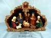 polyresin santa nativity sets for candle holder