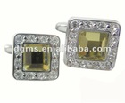 Crystal Square Cufflink,Fashion Metal Cufflink Chain