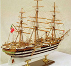 wooden sailing boat model