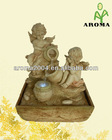 polyresin water fountain angel figurines