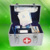 silver aluminum first-aid case