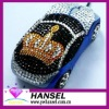 2012 Latest bling car USB mouse crystal